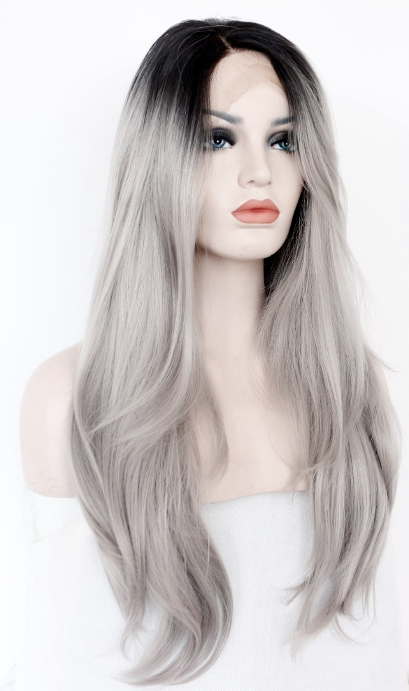 Full lace wig - grey ombre