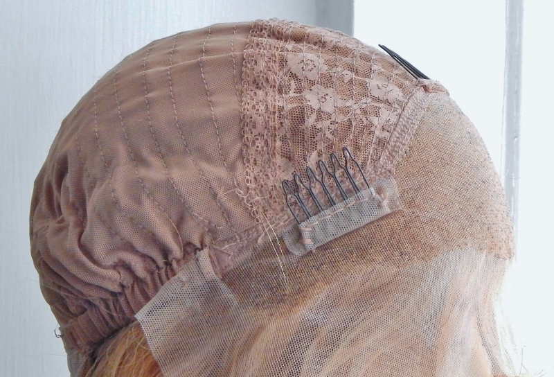 Lace Front Wig - combs and adjustable straps
