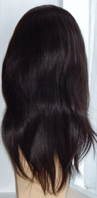 Stella - 18 Inch Silky-Straight Lace Front Wig Back