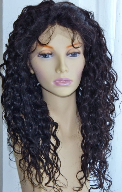 18 Inch Water Wave Lace Front Wig