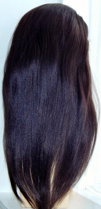 Yolanda - 18 Inch Yaki-Straight, Lace Front Wig Back