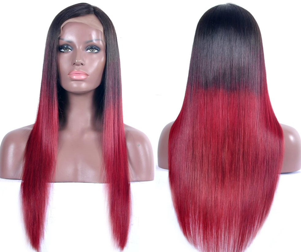Dip-Dye Two Tone Red Lace Front Wig
