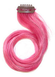 buy hair extensions online - pink clip hair extensions