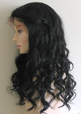 Synthetic Lace Wig Wavy Texture