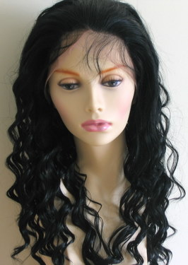 Synthetic lace front wig with baby hair