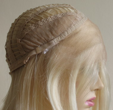 Lace front wig with open wefts