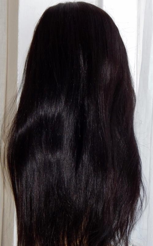 Vesta - 18 Inch Straight, V-Lace Front Wig Back