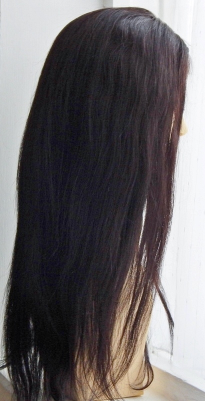 Vesta - 18 Inch Straight, V-Lace Front Wig Side