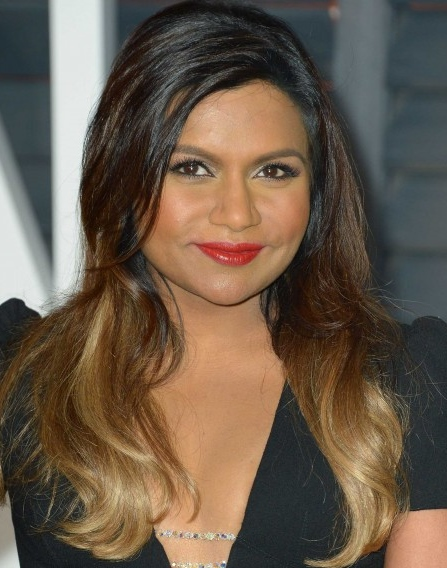 Mindy Kaling: layered hair