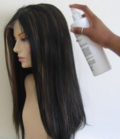 Spray moisturiser on lace wig
