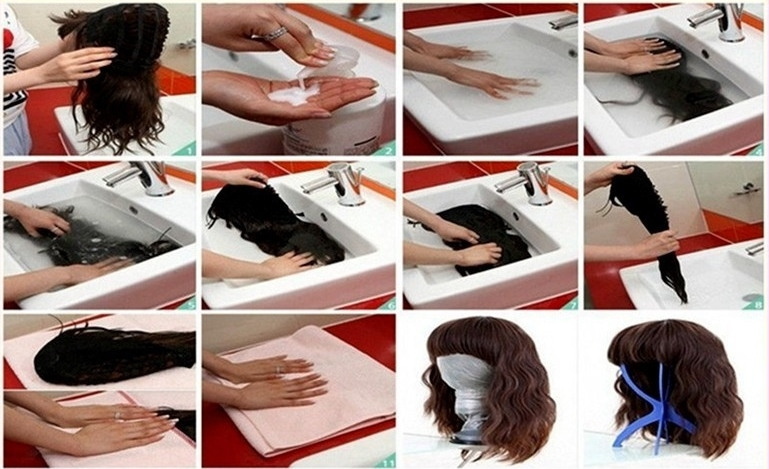 How to wash lace wigs