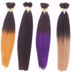 Dip-Dye Human Hair Braiding Extensions