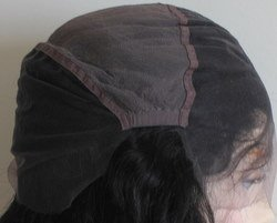Swiss Lace Cap with Ear to Ear Stretch