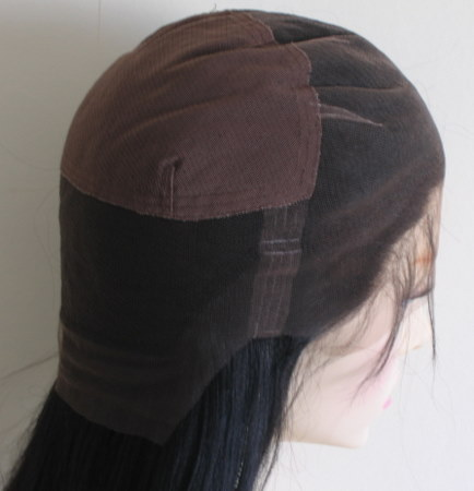 Full lace cap wig with stretch at the crown